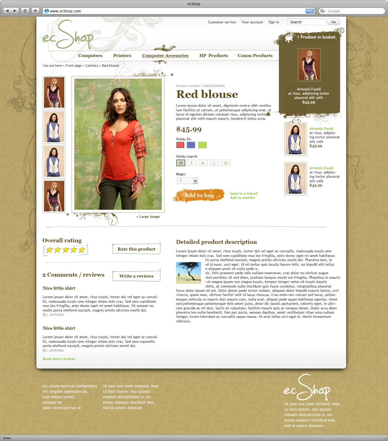 ecShop – Organic template   Scandinavian Web Designer