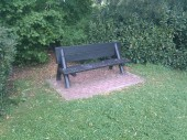 The bench I intended to meditate on