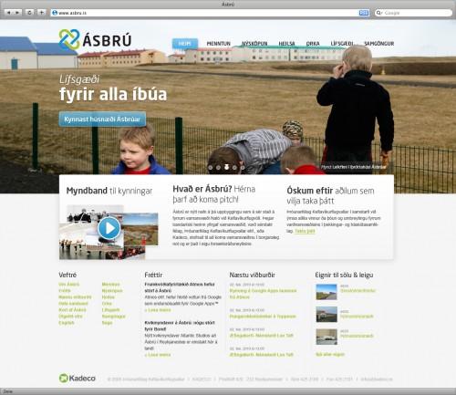 Ásbru.is - Front page design